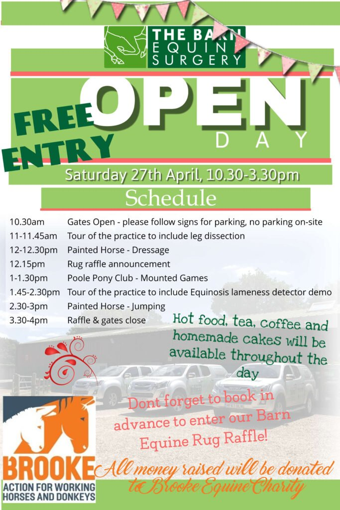 Open day schedule poster