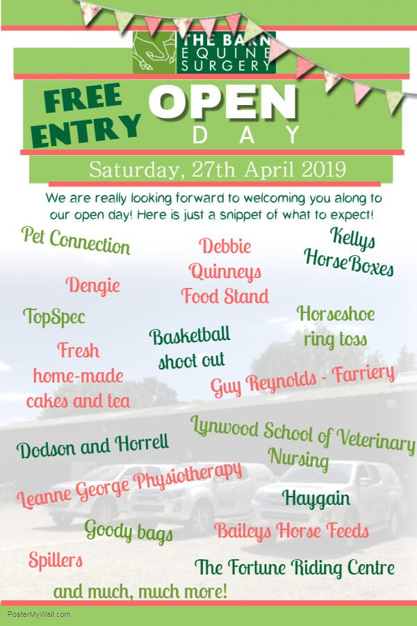 Open day poster - stands